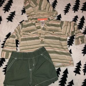 Carters boys hoodie and shorts